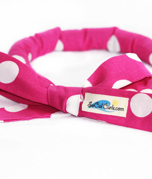 Bubblegum Polka Hair Curling Tie by SoCal Curls™